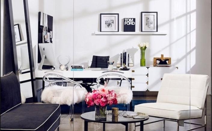 boho  modern  chic home office redo  chicmominthecity